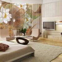 Wholesale Elegant artistic style home decoration luxury painting printed window curtain online design