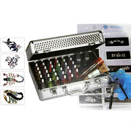 Wholesale Body Art Temporary tattoo kit colors Deluxe Kit glitter tattoo kit PH K006 Special price for EMS