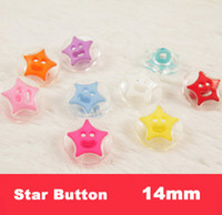 Cheap Free shipping! Mixed Colors star shape acrylic Buttons Fit Sewing or Scrapbooking 14mm ,bulk buttons for children(SS-689)