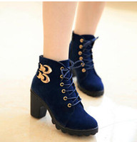 Cheap New 2014 hot sale autumn boots leather boots Metal buckle women