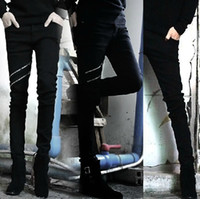 Long acid blend - Winter Autumn black jeans men acid wash cotton blend hot sales skinny designer brand men jeans denim jeans trouser