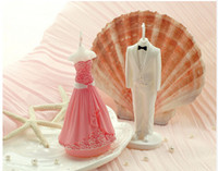 Wholesale Bride And Groom Wedding Candle Technology Candle Wedding Supplies Pink Dress Candle