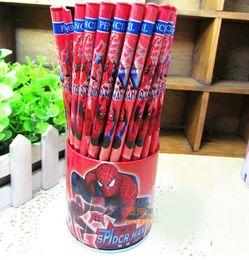 Hotsale! 72 Pcs lot Spiderman pencils Cartoon pencils Lovely pencil Gift Free shipping