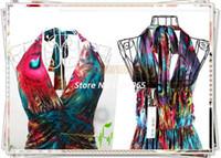 Cheap 2014 new Women Floral Long Dresses Full-Length Bohemian Flower Printing Tube Boho Maxi Dress 2662#008