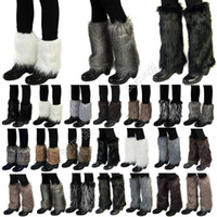 Wholesale 30CM New Women Lady Winter Warm Soft Faux Fur Fluffy Furry Cuff Leg Warmer Boot Cover Sleeve Toppers