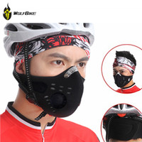 Wholesale Anti pollution City Cycling Mask Mouth Muffle Dust Mask Bicycle Sports Protect Road cycling mask face cover Protection