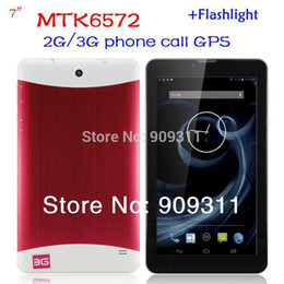 cheap 7 inch Tablet PC 3G Phablet GSM WCDMA MTK6572 Dual Core 4GB Android 4.2 Dual SIM Camera Flash Light GPS Phone Call WIFI Tablet