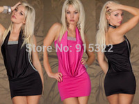Cheap Free Shipping 2014 Sexy Mimi Dress Short Tight Mini Luxury Club Satin Women Clothes sequined Party Evening dresses
