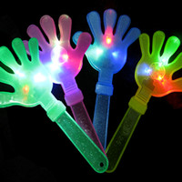 Wholesale Props atmosphere clapping sticks flash light emitting device CM large clap your hands