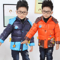Wholesale 2014 Winter boy Cartoon thick cotton padded jacket coat children s down jacket Kids outwear