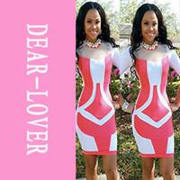 Sexy White Rosy Bandage Style Patchwork Bodycon Mini Dress LC21316