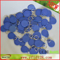 Wholesale 20PCS HF MHz Proximity RF NFC Smart IC Key Fobs Tags Cards keychains For Channel Access Control Door Lock