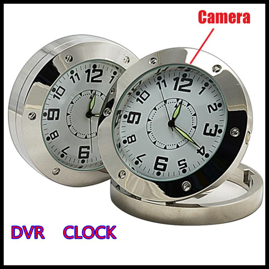 Hot Silver Dvr Clock Record Motion Detection Hidden Camera