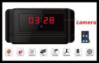 Wholesale HD Mini Digital Clock DVR Motion Detect Alarm Video Recorder hours hidden camera Audio Recording V6