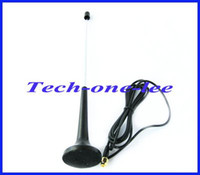 Cheap 10pcs lot Digital Freeview DVB-T TV HDTV Antenna 16dbi ~ 17dbi SMA Plug Connector telescopic Aerial Free Shipping