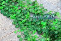 plastic rattan - Length of cm Artificial Silk Plastic Begonia Simulation hanging Flower Vine Green Leaf Ivy Rattan for Home Bar Restaurant Decoration