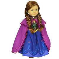 Wholesale Frozen Anna Princess piece Outsuit Doll Clothes For quot American Girl