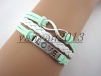 al por mayor coreano pulsera de cuero-Vintage amor infinito pulsera brazalete tejido a mano de cachemir Corea multi-capa de moda nuevo encanto de pulsera de cuero personalizado