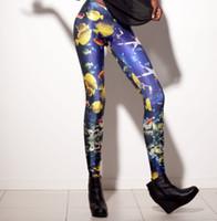 Cheap EAST KNITTING BL-008 women fashion leggings 2014 NeW shiny Milk fitness Leggings Sea Fish LEGGINGS OEM Digital Print Pants