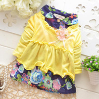 TuTu Summer other From China 2014 New Models Starting in Autumn Long-sleeved Cotton Dress Children Dress Children Girls Floral Dress Lapel Kids