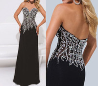 Wholesale High Fashion Black Fitted Prom Dress Buy Direct From China vestido de formatura Evening Gowns With Beads and Crystals