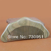 Wholesale Factory engravable gifts Whole wood Sessile Green sandalwood Combs wooden crafts High quality natural health materials