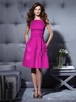 Cheap Reference Images pocket Best Jewel/Bateau Satin evening dress