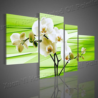 Wholesale Oil Painting Wall Decor Hand Painted Piece Green Contemporary Decorative Oil Paintings Wall Art Flower Pictures For Living Room Home decor