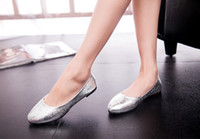 ankle cracking - In the fall of the new super shiny blasting crack wedding shoes for women s shoes flat point single shoes
