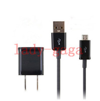 Wholesale Universal US Plug Home Wall Charger AC Power Adapter Micro USB Sync Data Charging Cable For Samsung Galaxy S4 S3 S5 I9600 Note N9000