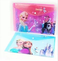 Wholesale Frozen paper file children folder New beauty school student file bags stationery organizers office filing supplies