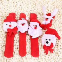 Wholesale Pat Pats Christmas gift Xmas Santa Claus Snowman Toy Slap Circle Bracelet Wristhand Christmas Tree Decoration Ornament Deco