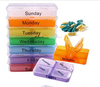 7 Pill Cases & Splitters about 1.25 Medicine Weekly Storage Pill 7 Day Tablet Sorter Box Container Case Organizer