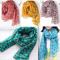 Wholesale Hot sale autumn and winter children scarves baby girls kids colorful dot cotton blended fashion scarf retail