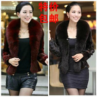 Wholesale New Women Clothing Fashion High Quality Leisure Warm Imitation Fur Coat Mink Raccoon Fur Collar Big Size Coat S XL t1205