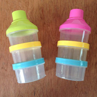 Wholesale Feeding Supplies Baby Food Storage Bottle Three Layers Milk Powder Boxes Container Personality Design