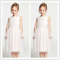 Wholesale 2014 Ann Taylo Flower Girls Dresses Ball Gowns Silk Little Princess Party Dresses Sash Summer Weddings Dresses Elegant Kids Prom Dresses