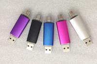 DHL teléfono celular caliente caliente rápido pendrives 128GB USB (disco de U) 2.0 impulsión de destello Thumbdrie de la impulsión OTG almacenaje externo micro memoria del usb palillo 50pcs