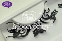 Wholesale purple mood paper cutting art photo exaggerated false eyelashes black eyelashes manufacturers
