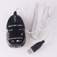 Wholesale Guitar to USB Adapter Link Audio Cable For Mac PC to Guitar Recording Plug and Play