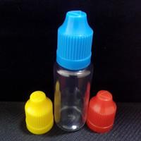 Wholesale Empty Clear PET ml Dropper Bottle Plastic E Liquids Bottles Bottles With Childproof Cap And Long Thin Tip