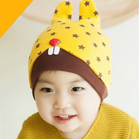 Wholesale Lovely Cartoon Rabbit Children Hat Scarf Set Baby Caps and Hats Fashion Children Costume SK225