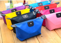 Wholesale New Fashion Large capacity waterproof zipper storage bag cosmetic bag handbag multicolor optional a691