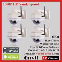 Yes Infrared IP Camera 4PCS 2MP Wireless WIFI Network IP Camera Sony Sensor H264 1080P HD Waterproof Vandalproof Surveillance CCTV Security Camera
