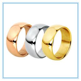 Alto acero inoxidable pulido en Línea-5.8 mm 3 colores anillo de dedo plateado oro de alta banda polaca de acero inoxidable 316L boda de los pares Anillos de compromiso para hombres de las mujeres