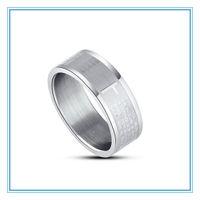 Oración Padre Español Padre Nuestro Biblia los Ring O acero inoxidable 316L Cruz anillos de plata para las mujeres de los hombres de la joyería