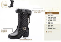 Wholesale Winter Snow Boots For Women Western Fashion Style Cowhide Leather Black Color S5