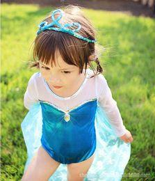 Wholesale Girls One piece Swimwear Kids Clothing Princess Swimsuit Children Child Sunscreen Cloak Beach Wear K1137