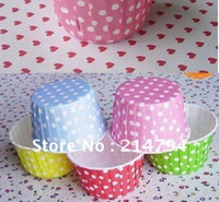 Wholesale EMS Polka Dot Cake Dessert Cup Cupcake Liners Bake Cup Muffin Cases Muffin Holder Cake Packing Base cm