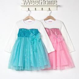 Wholesale 2014 autumn frozen girls dresses christmas dress winter girls dress frozen party dress vestidos infantis halloween frozen costumes color